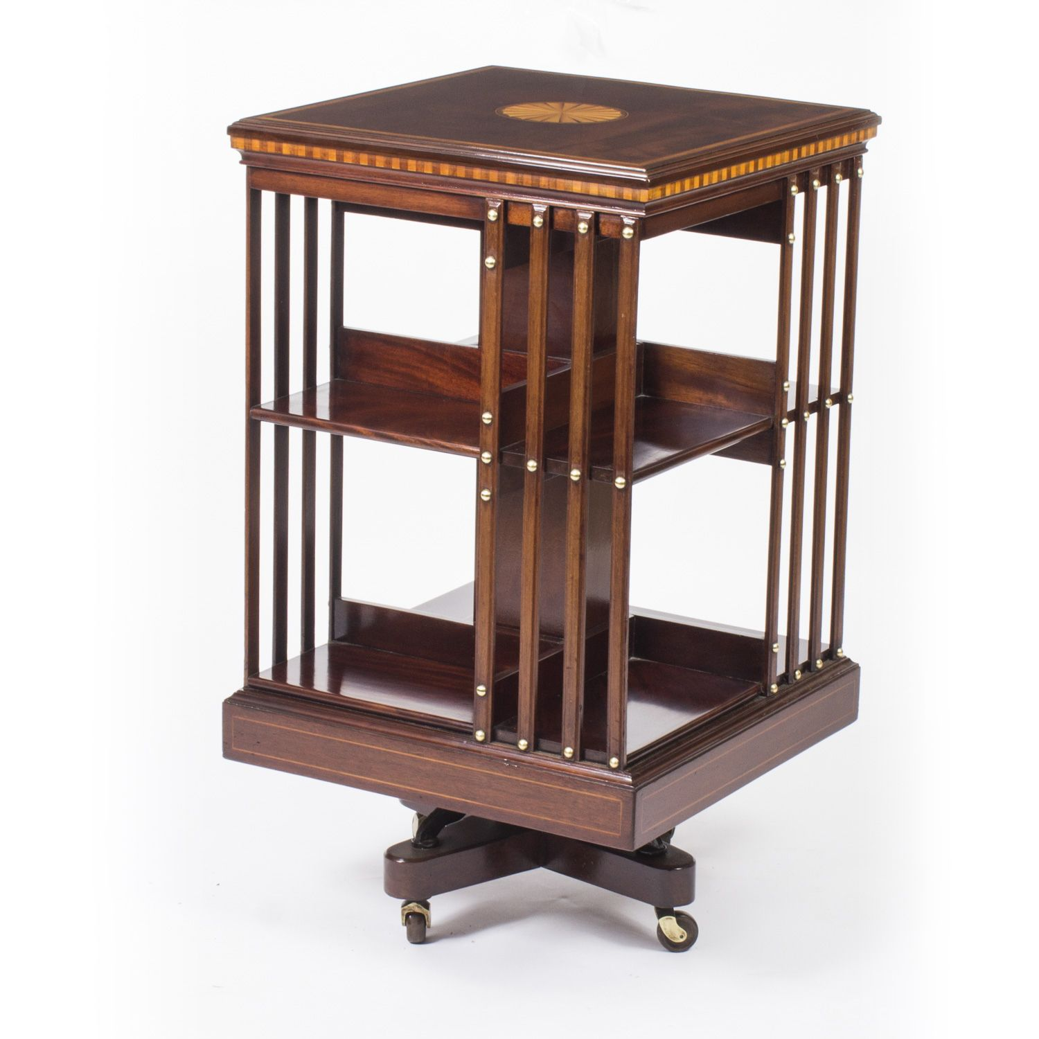 an exquisite antique revolving bookcase attributed to the renowned rh pinterest com