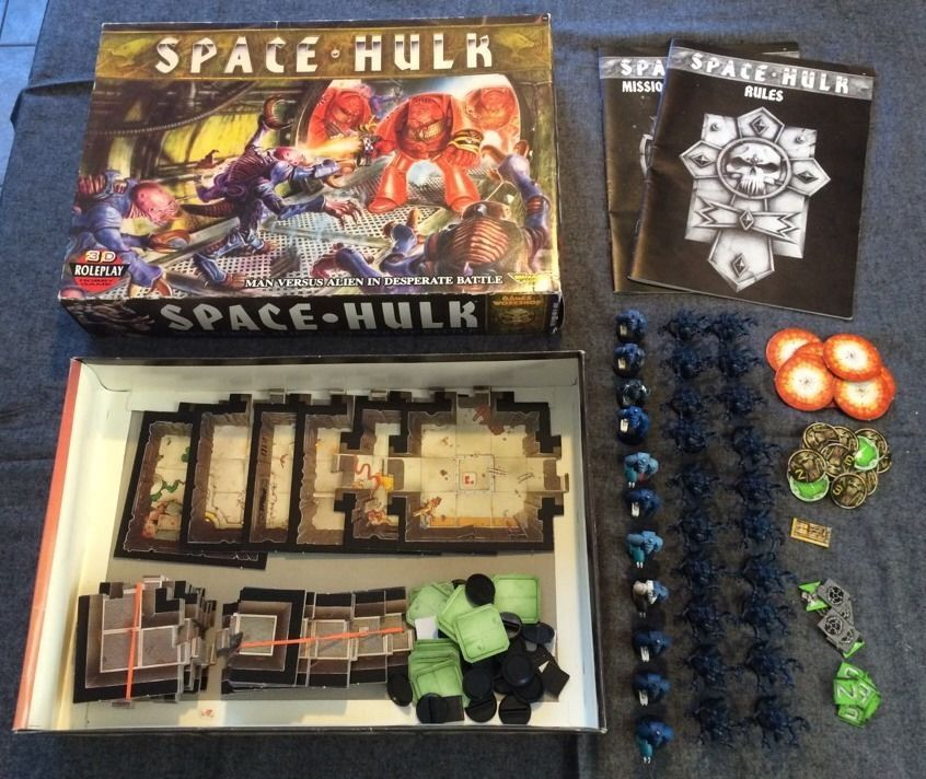 Warhammer 40k Space Hulk Board Game First Edition Complete Games