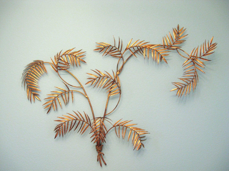 Vintage hollywood regency gold gilt palm leaf wall art sculpture vintage hollywood regency gold gilt palm leaf wall art sculpture 29500 via etsy amipublicfo Images
