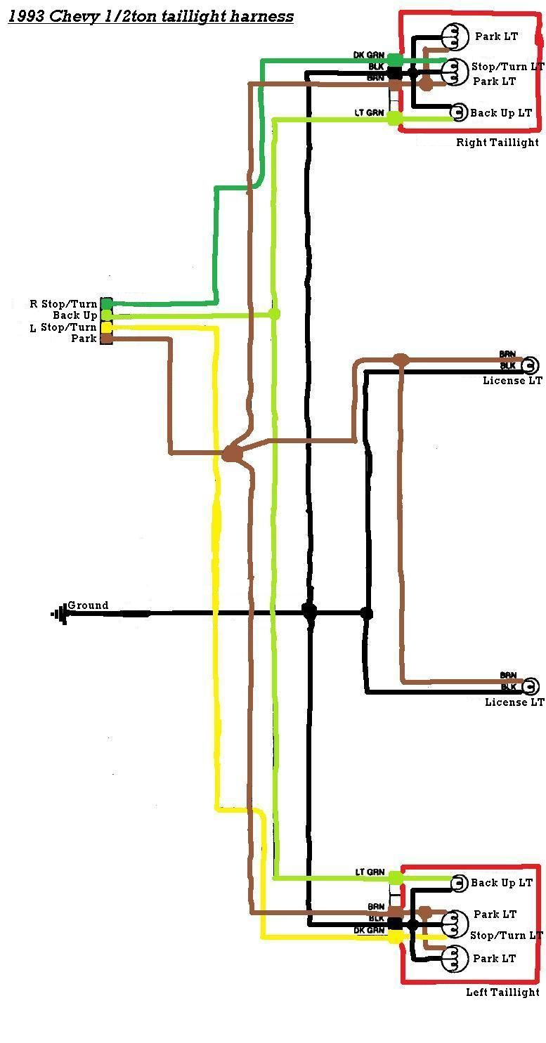 wiring diagram for trailer light, http://bookingritzcarlton.info/wiring- diagram-for-trailer-light/ | trailer light wiring, chevy trucks, chevy 1500  pinterest