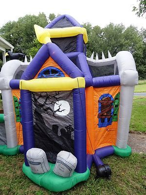 8 large walk through haunted house halloween inflatable yard blow up ebay