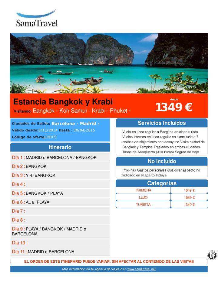 Estancia Bangkok y Krabi  desde 1349 € ultimo minuto - http://zocotours.com/estancia-bangkok-y-krabi-desde-1349-e-ultimo-minuto-2/
