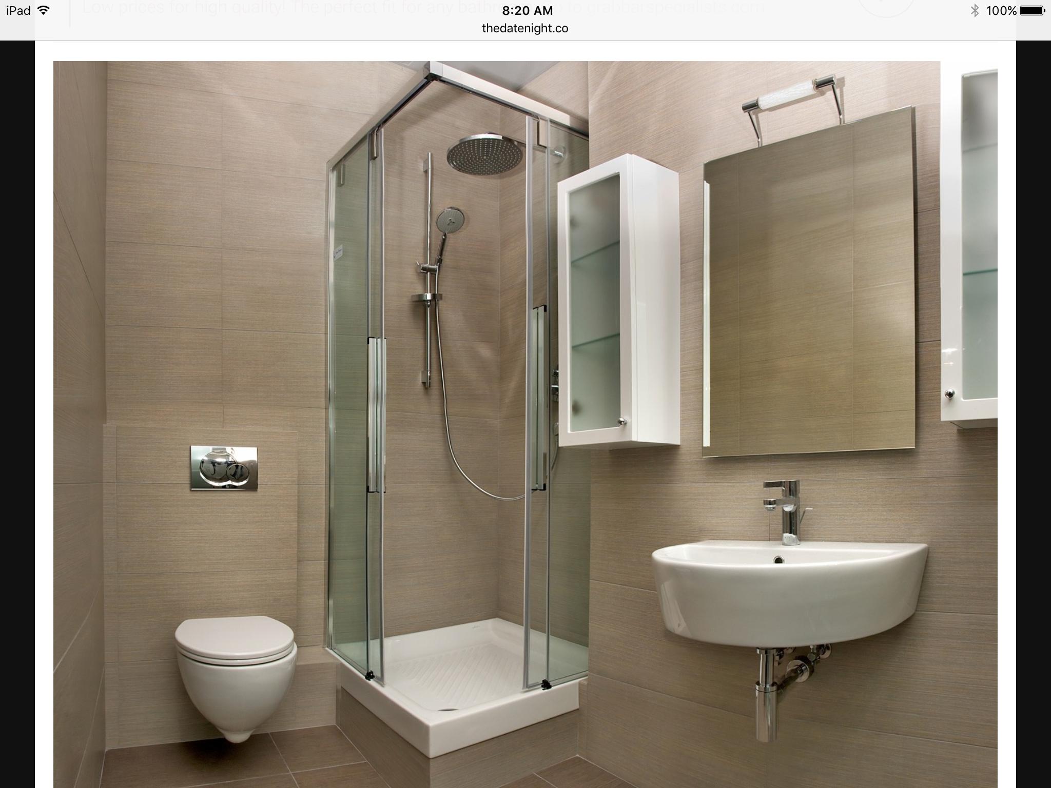 Wall mount toilet and mirror cupboard idea | HomeDec-Bathroom ...