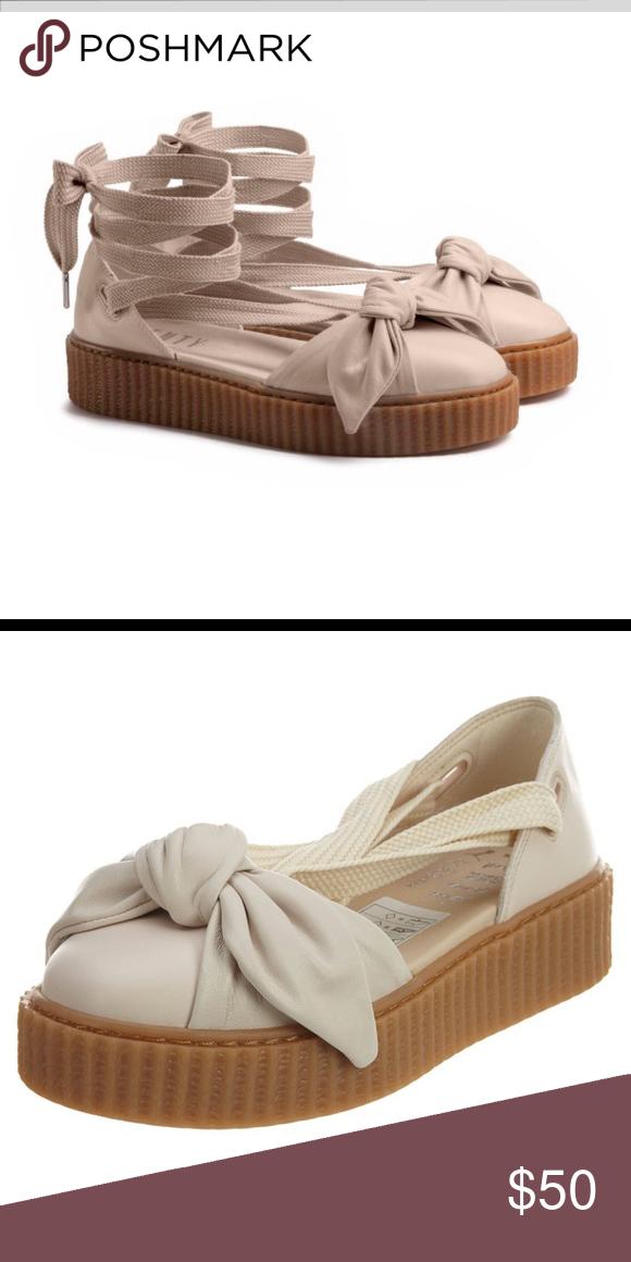 03fc269e9ec Fenty PUMA by Rihanna Bow Creeper Sandals Fenty PUMA by Rihanna Bow Creeper  Sandals — worn twice !! Puma Shoes Platforms