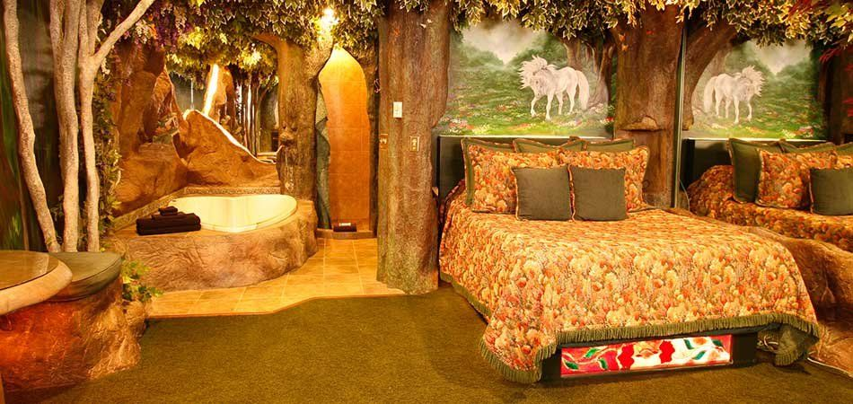 forest themed bedroom black swan inn luxury themed suites in pocatello idaho 11549