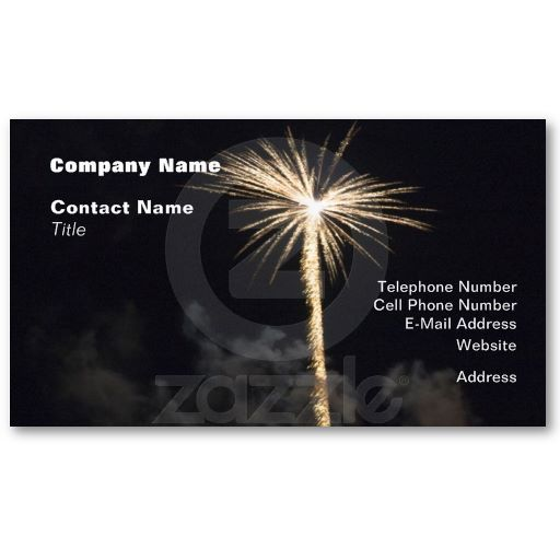 Fireworks Celebration At Night Business Card Zazzle Com Cards Business Cards Business Card Design