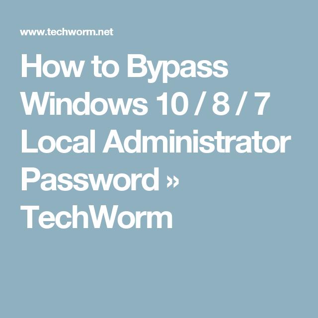 windows local admin password
