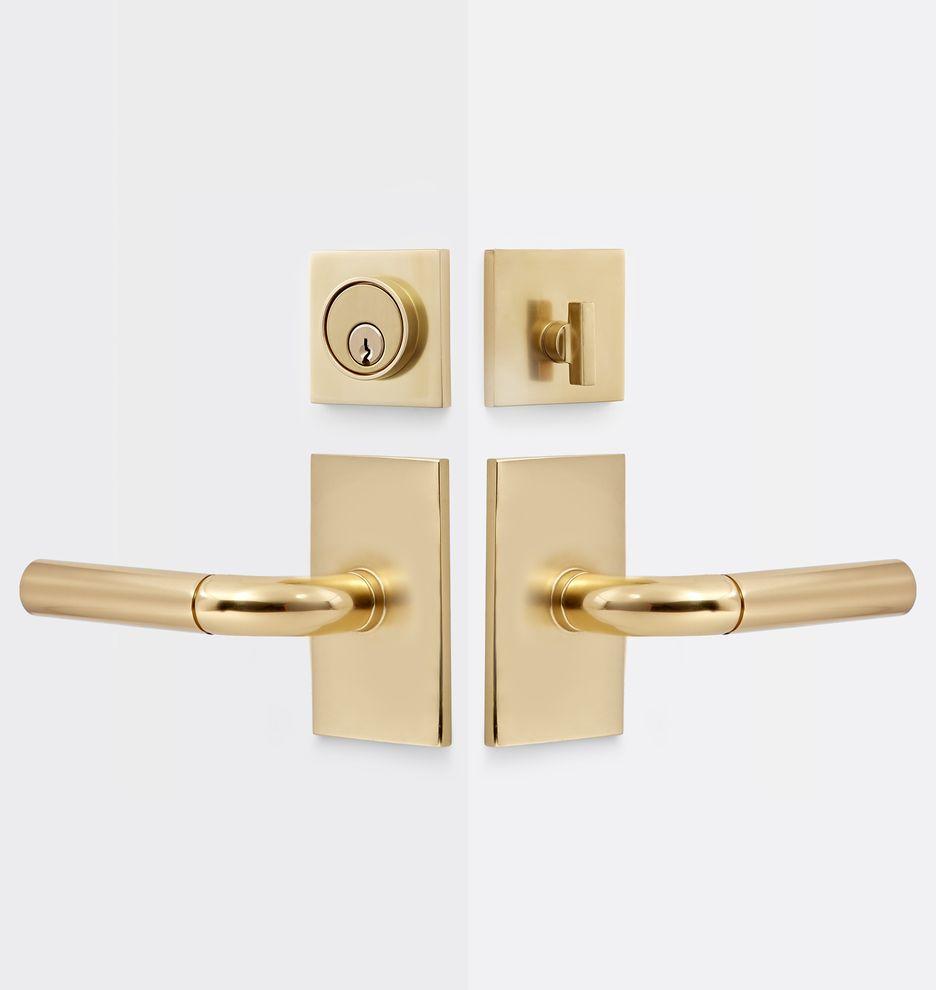 Tumalo Brass Lever Tube Latch Interior Door Set Rejuvenation Brass Door Handles Doors Interior Door Handles Interior