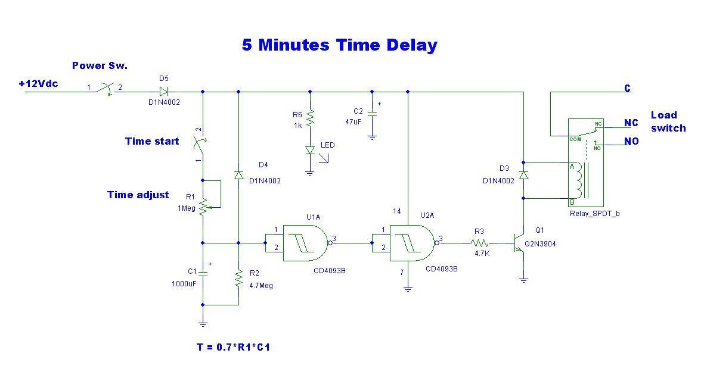 Pleasing 5 Minute Time Delay Circuit Using Cd4093 Eleccircuit Com Wiring Cloud Peadfoxcilixyz