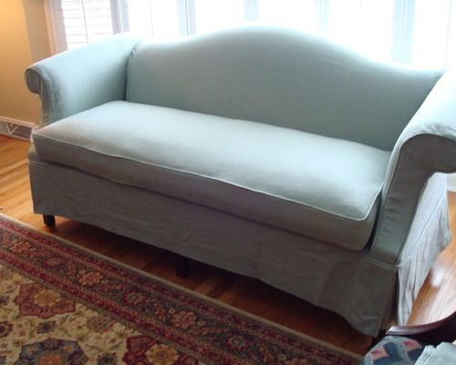 Slipcovers Camel Back Sofa Slipcover Custom Made With Pleat Detail