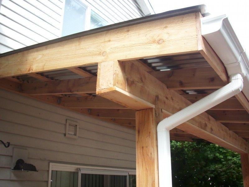 Cedar Wrapped Post And Beam Patio Awning Pergola Plans Design