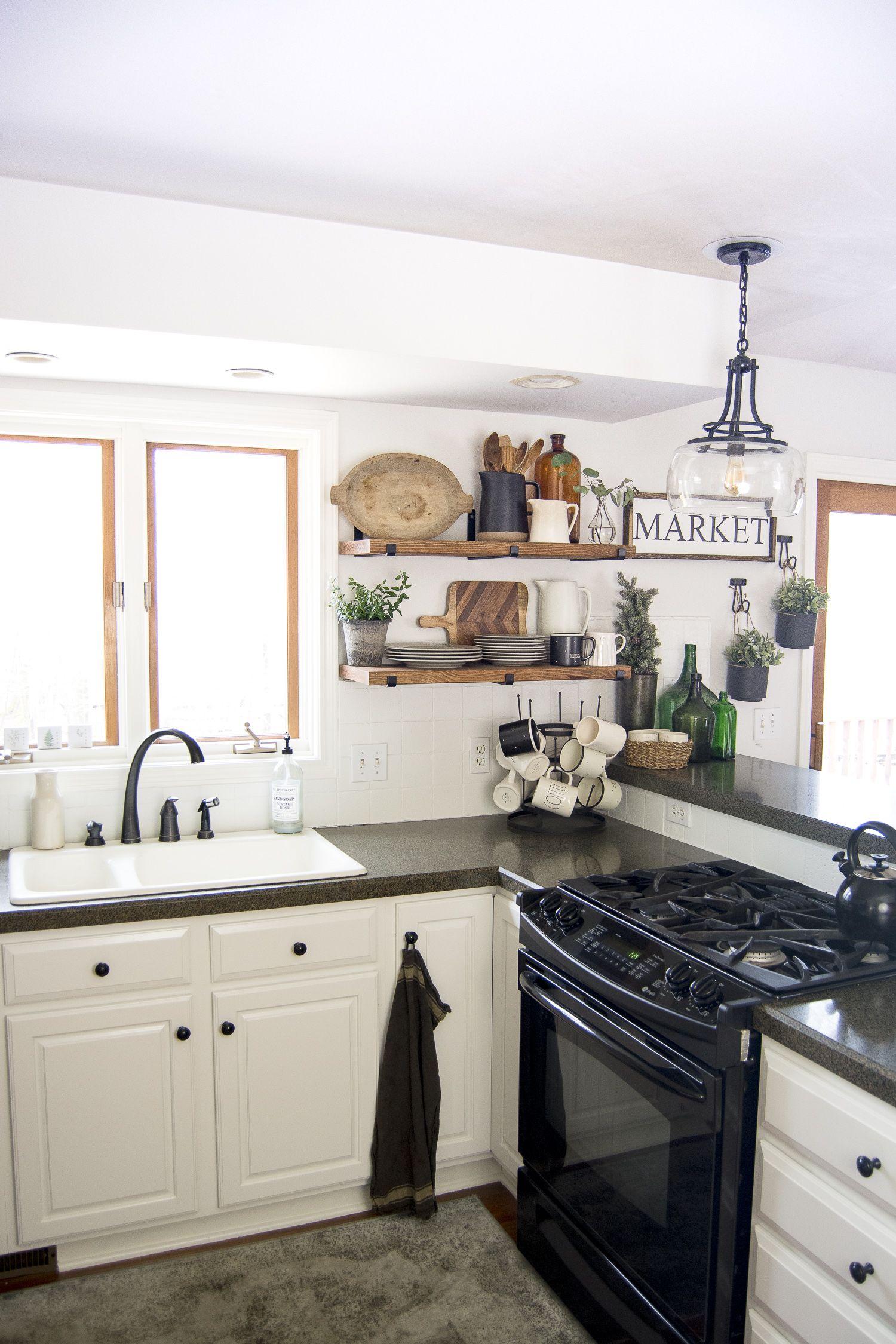 kitchen open shelving farmhouse kitchen inspiration home kitchens kitchen on farmhouse kitchen open shelves id=62207