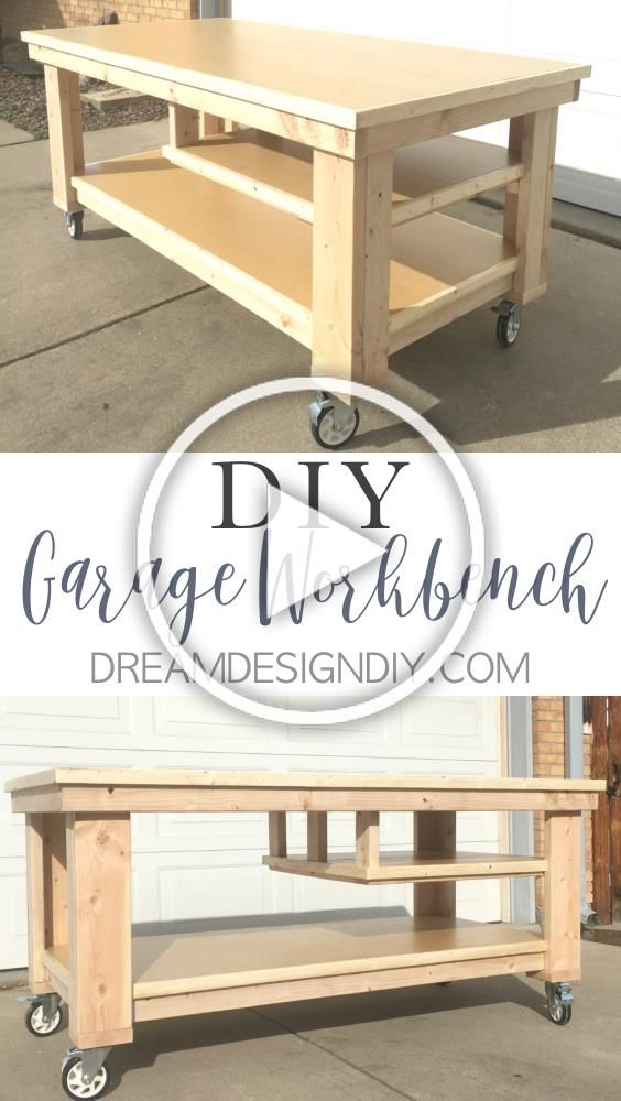 This DIY Garage Workbench on wheels is the perfect mobile multifunctional build to organize your garage or workshop and work on your projects all in one space I am partic...