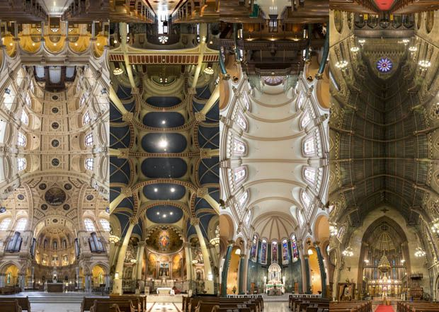 Trippy 180 Degree Vertical Panoramas Of Churches In New York City