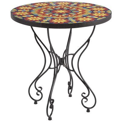 Incredible Pier One Imports Kaleidoscope Bistro Table 28 25 Diameter Home Interior And Landscaping Ferensignezvosmurscom