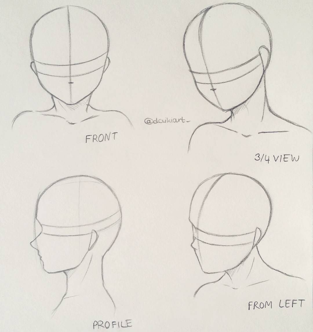 How To Draw Different Head Poses Maybe This Tutorial Helps A Bit Manga Anime Doodle Illustration Mangad Anime Drawings Tutorials Drawing Heads Anime Head