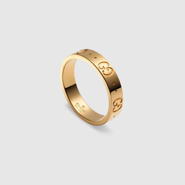 Simple Gucci icon thin band made in yellow gold