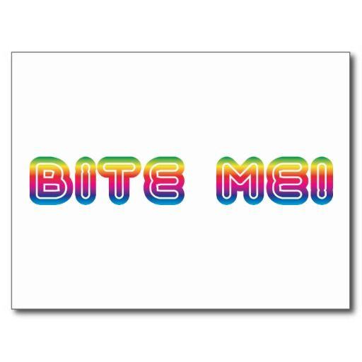 bite me 80s 1980s