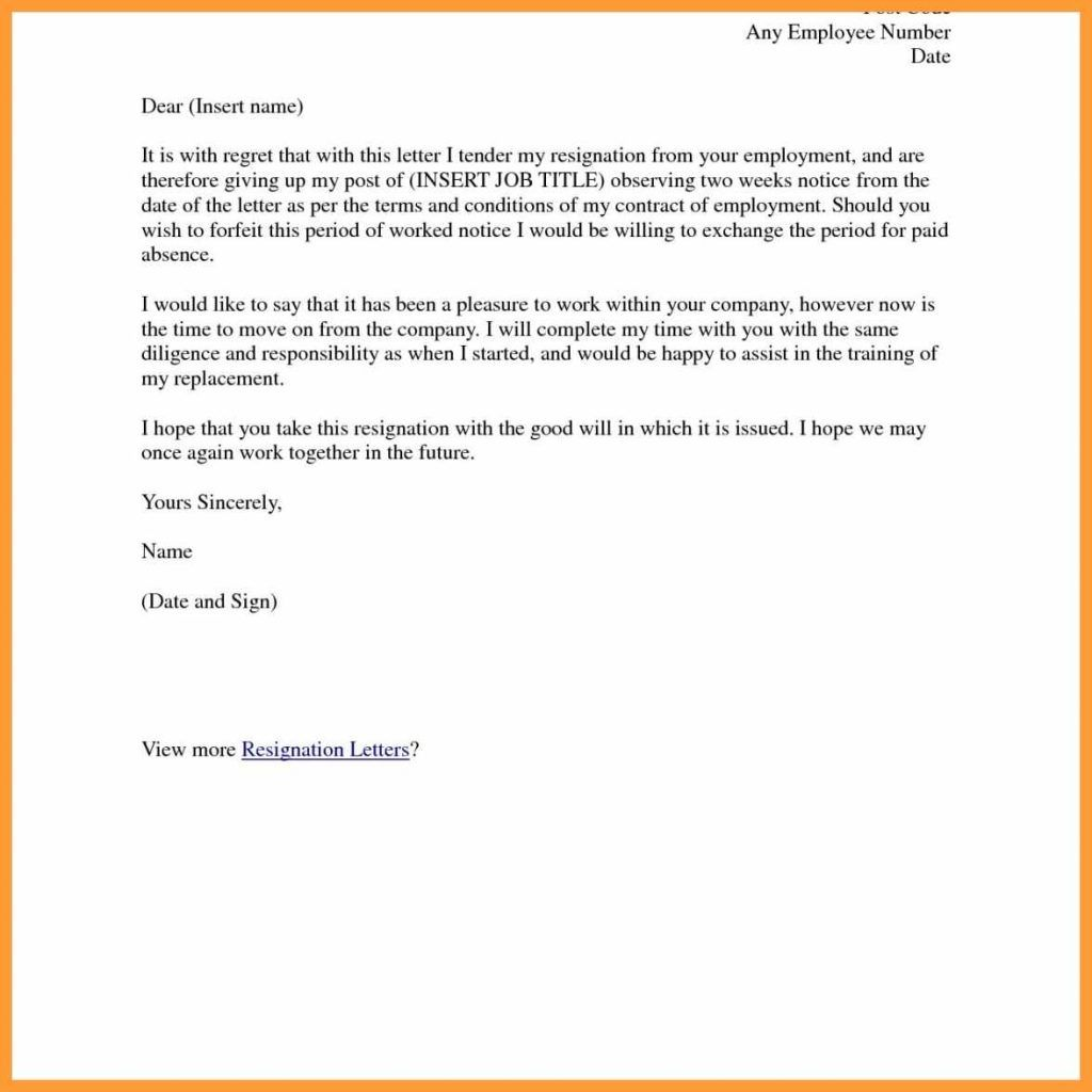 Samples Of Resignation Letters 3 Most Important Parts In A