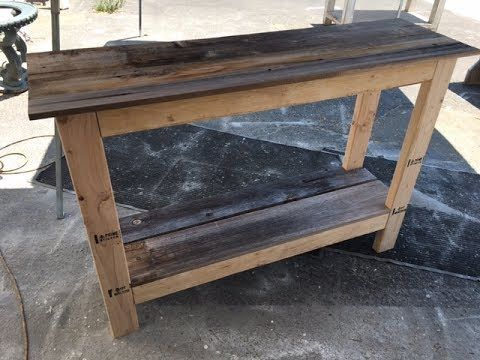 Diy 20 Console Table Project Fast And Easy Great Project For All Skill Levels Support Us By Visiting Us In 2020 Diy Sofa Table Diy Entryway Table Diy Pallet Sofa