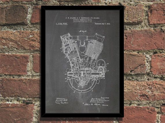 Engine patent print steampunk art poster malvernweather Image collections