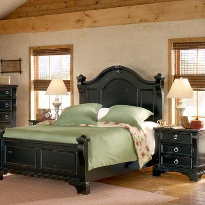 American Woodcrafters Heirloom Distressed Poster Bedroom Set my