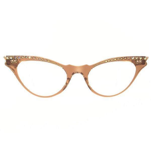 c991b661a699 Vintage Cat Eye Glasses Eyeglasses by VintageEyeglassesCat - Polyvore