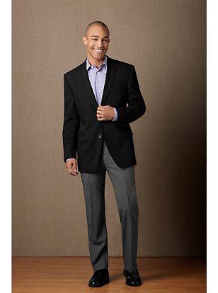 Black Sport Coat Grey Slacks No Tie Mens Wardrobe Pinterest