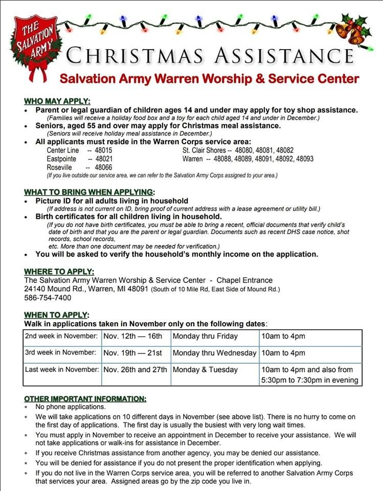 Salvation Army Community Boards Army Christmas Announcement