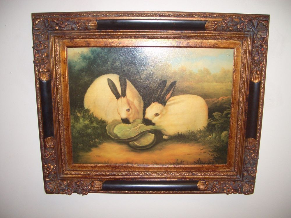 Vintage P Rolence Painting Two Himalayan Rabbits Framed By 31 5 X 28 Painting Art Himalayan Rabbit