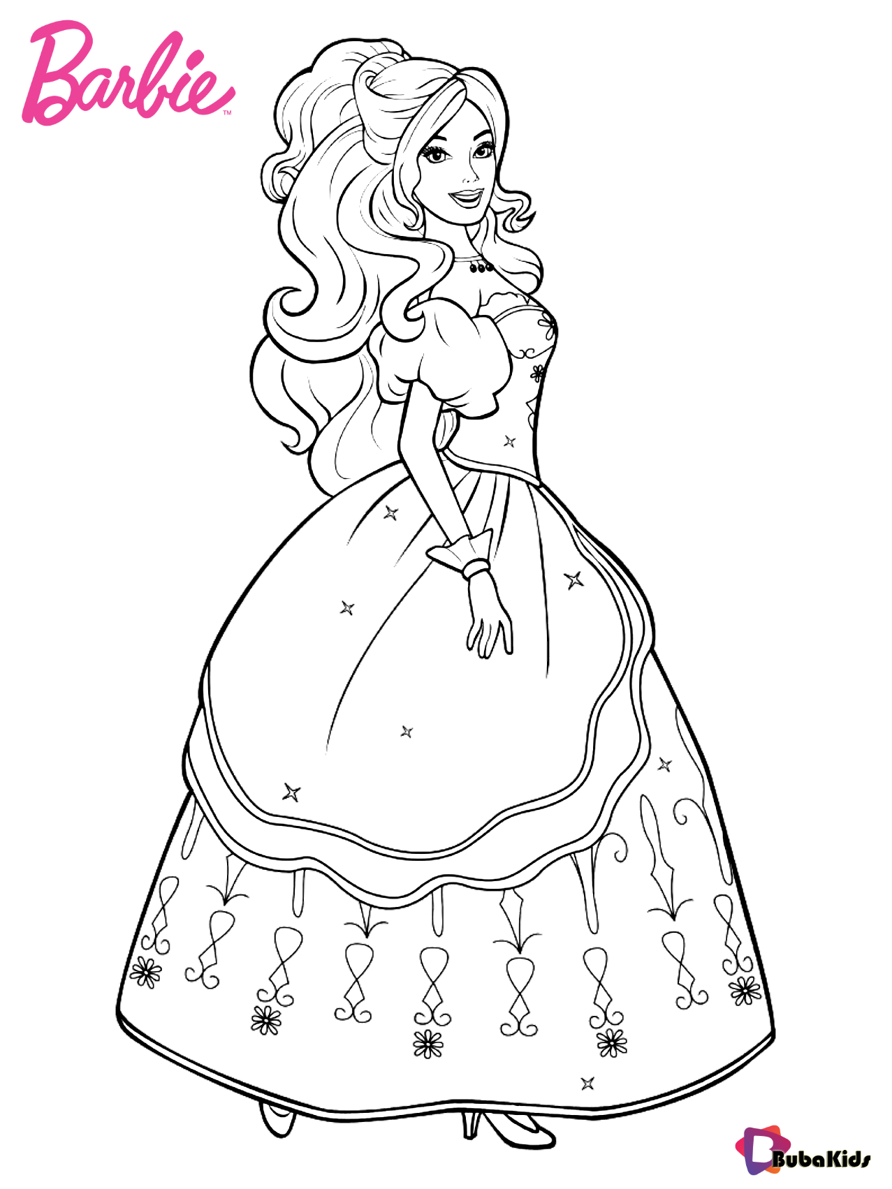 Pin By Lisa On Printables In 2020 Barbie Coloring Pages Barbie Coloring Princess Coloring