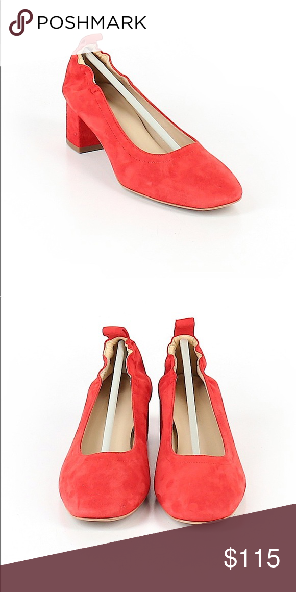Everlane red suede day heel | Red suede