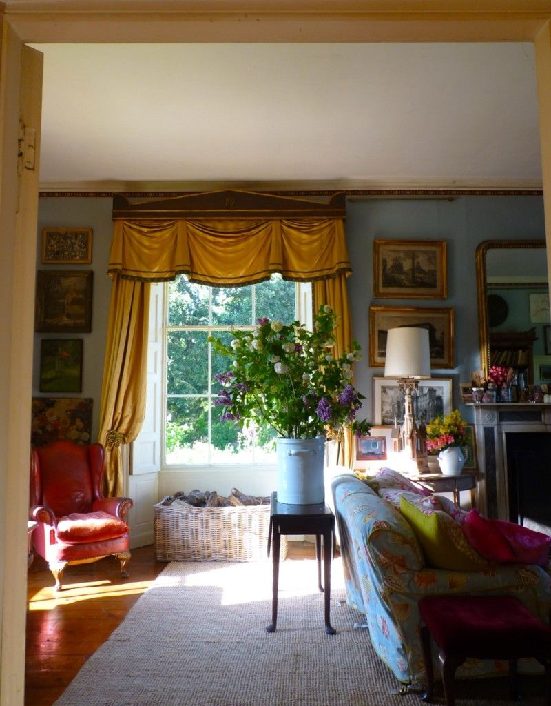 English Drawing Room: The Drawing Room At Trematon Castle, Cornwall. From The