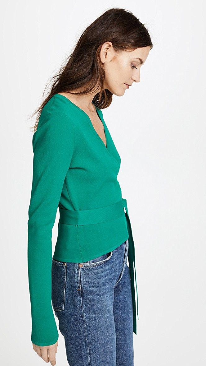 Diane von Furstenberg Knit Wrap Top   SHOPBOP   My Style   Pinterest ...