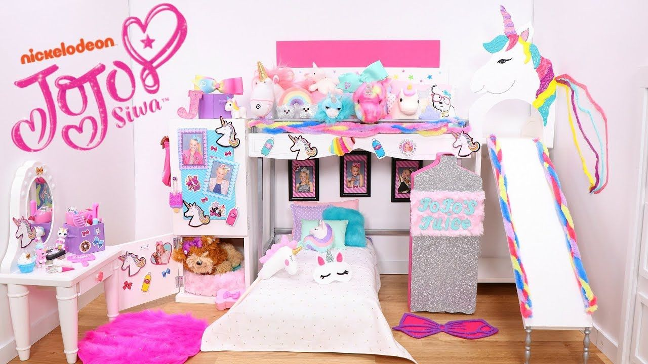 Disney Princess Bedroom Decor Inspirational Doll Bunk Bed Slide And Its Jojo Siwa New Bedroom Epic Room Tour With Unicorns Rainbows Kamar Bermain Anak Mainan