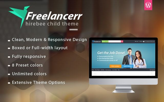 HireBee Project Bidding & Freelance Marketplace WordPress Theme