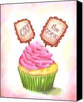 Kiss The Cook Cupcake Art Painting!      Aline