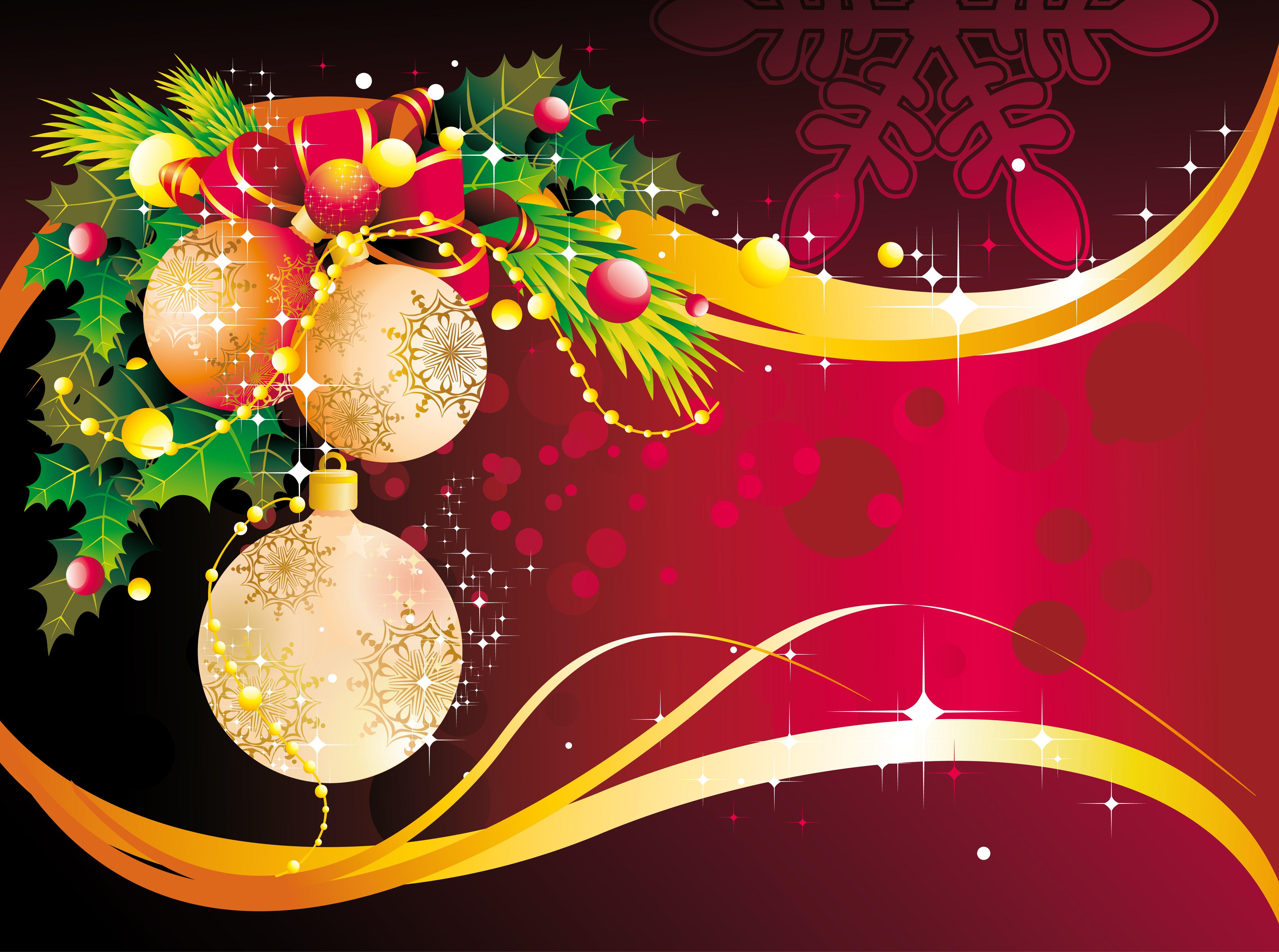 Открытка для афиши на новый год, нарисованные