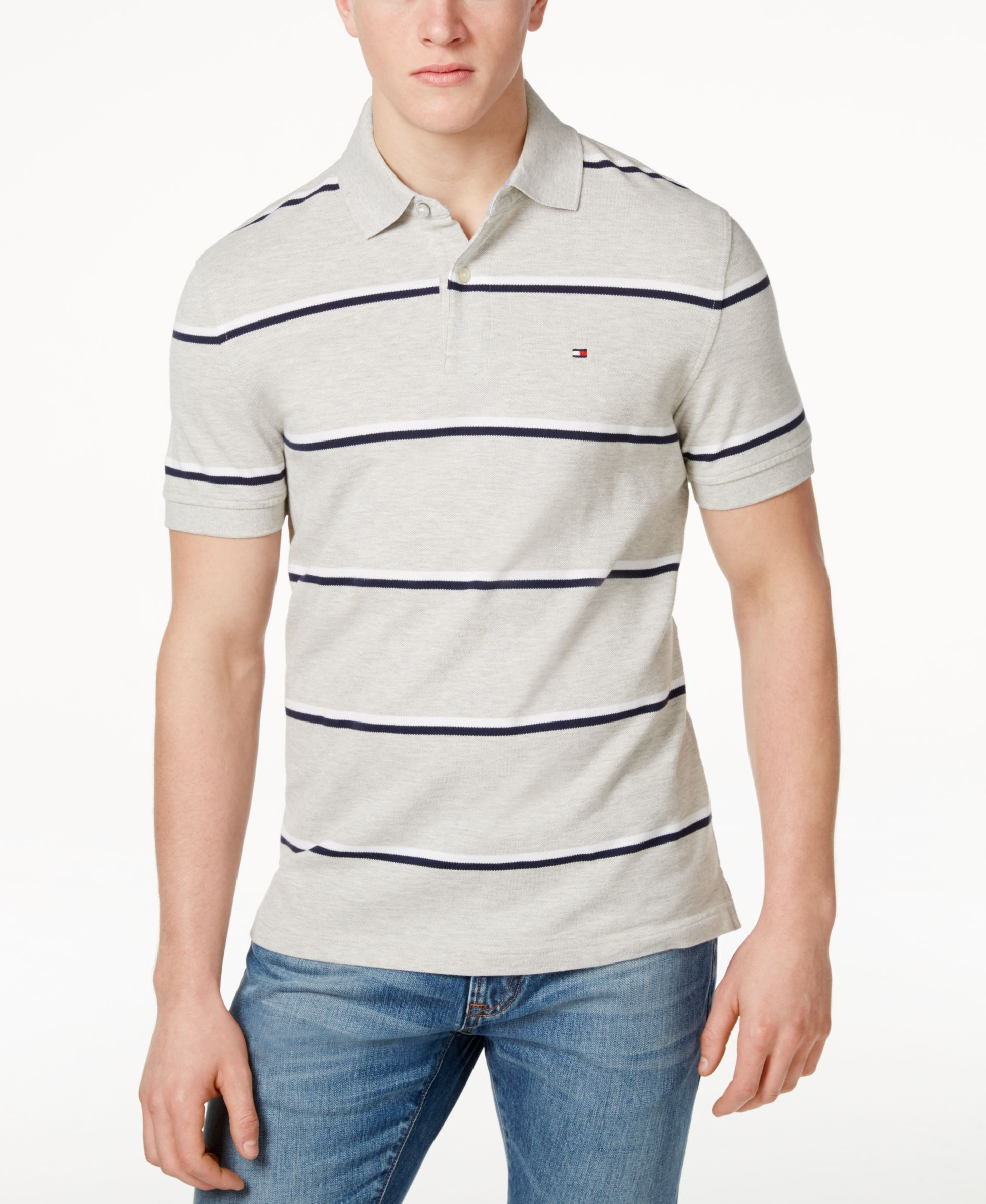 c46216bc390 Tommy Hilfiger Andrew Stripe Polo