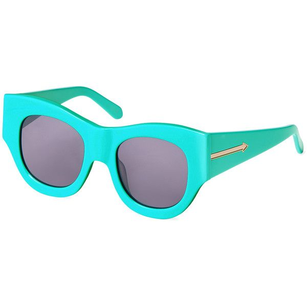 ecd794843a12 Karen Walker Sunglasses Faithful Cat Eye Frame ($89) ❤ liked on Polyvore  featuring accessories, eyewear, sunglasses, bright blue, lens glasses, ...