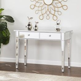Mirage Mirrored 2 Drawer Console Table Hall Console Table