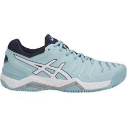 Asics Damen Tennisschuhe Outdoor Gel-Challenger 11 Clay, Größe 37 ½ in Hellblau/Weiß, Größe 37 ½ in