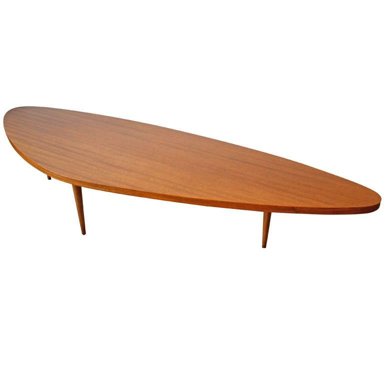1950s Harvey Probber Boomerang Coffee Table