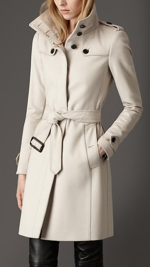 45323caf Virgin Wool Fitted Coat size 2 | Burberry. Great coat but show me more of  the pants!