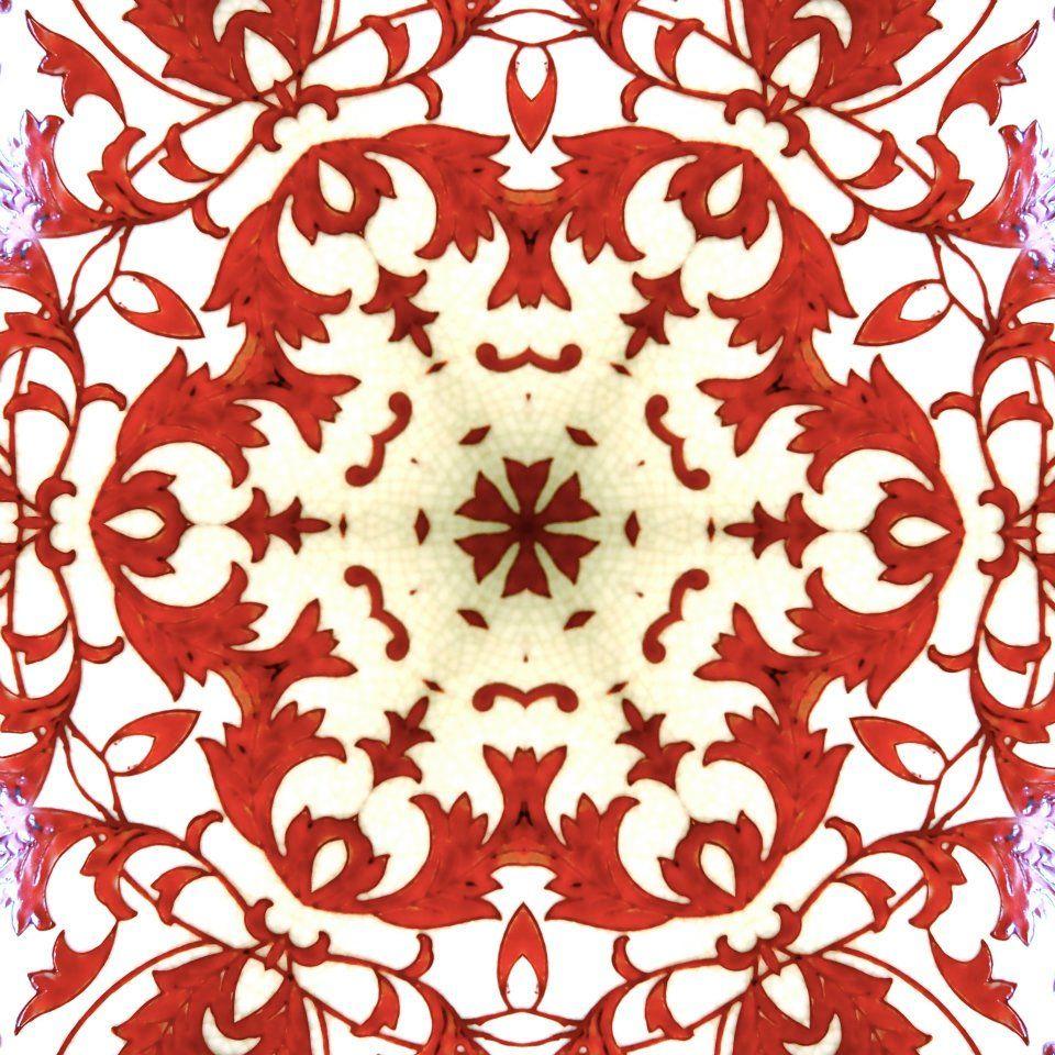 Red And White Tile Pattern Spanish Pattern Tile Patterns Pattern