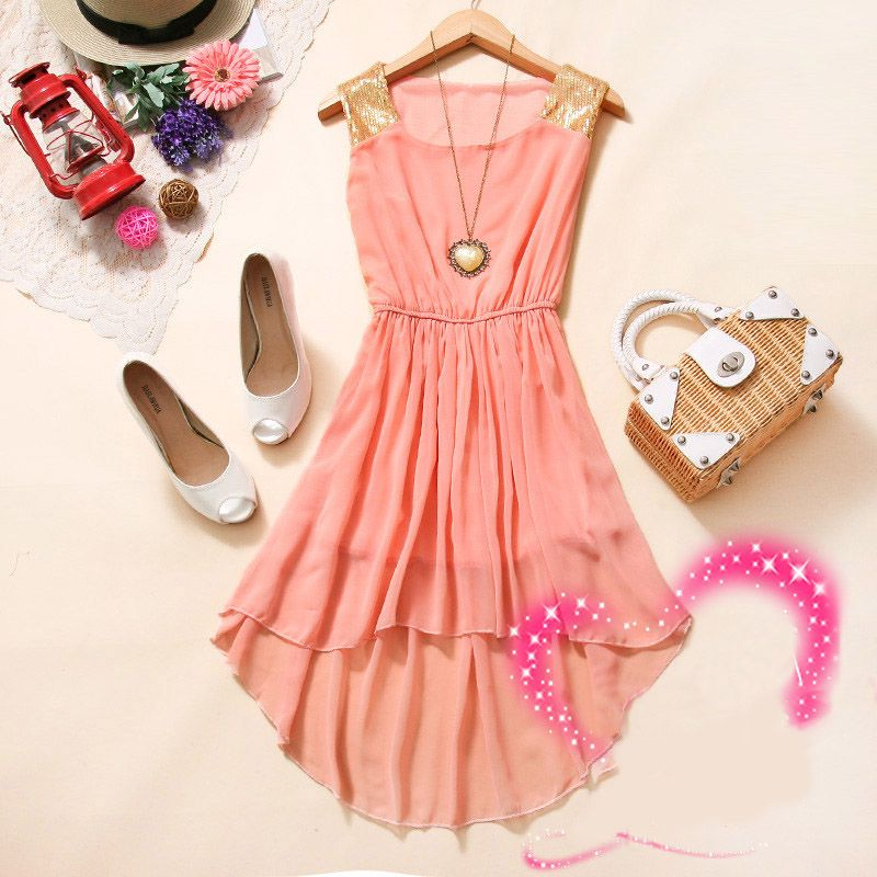 whatgoesgoodwith.com light-pink-casual-dress-11 #cuteoutfits | All ...