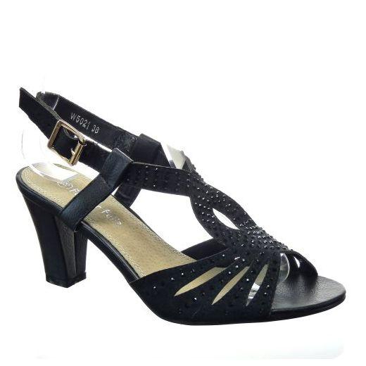 Kickly damen Mode Schuhe Pumpe Sandalen Strass Schuhabsatz