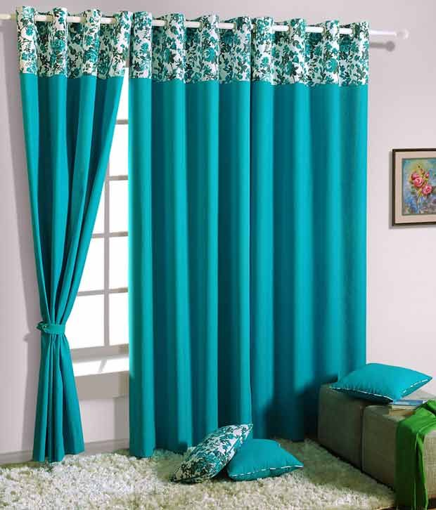 Swayam Solid Eyelet Window Curtain 1 Piece Curtains Living Room Turquoise Curtains Living Room Blue Curtains Living Room
