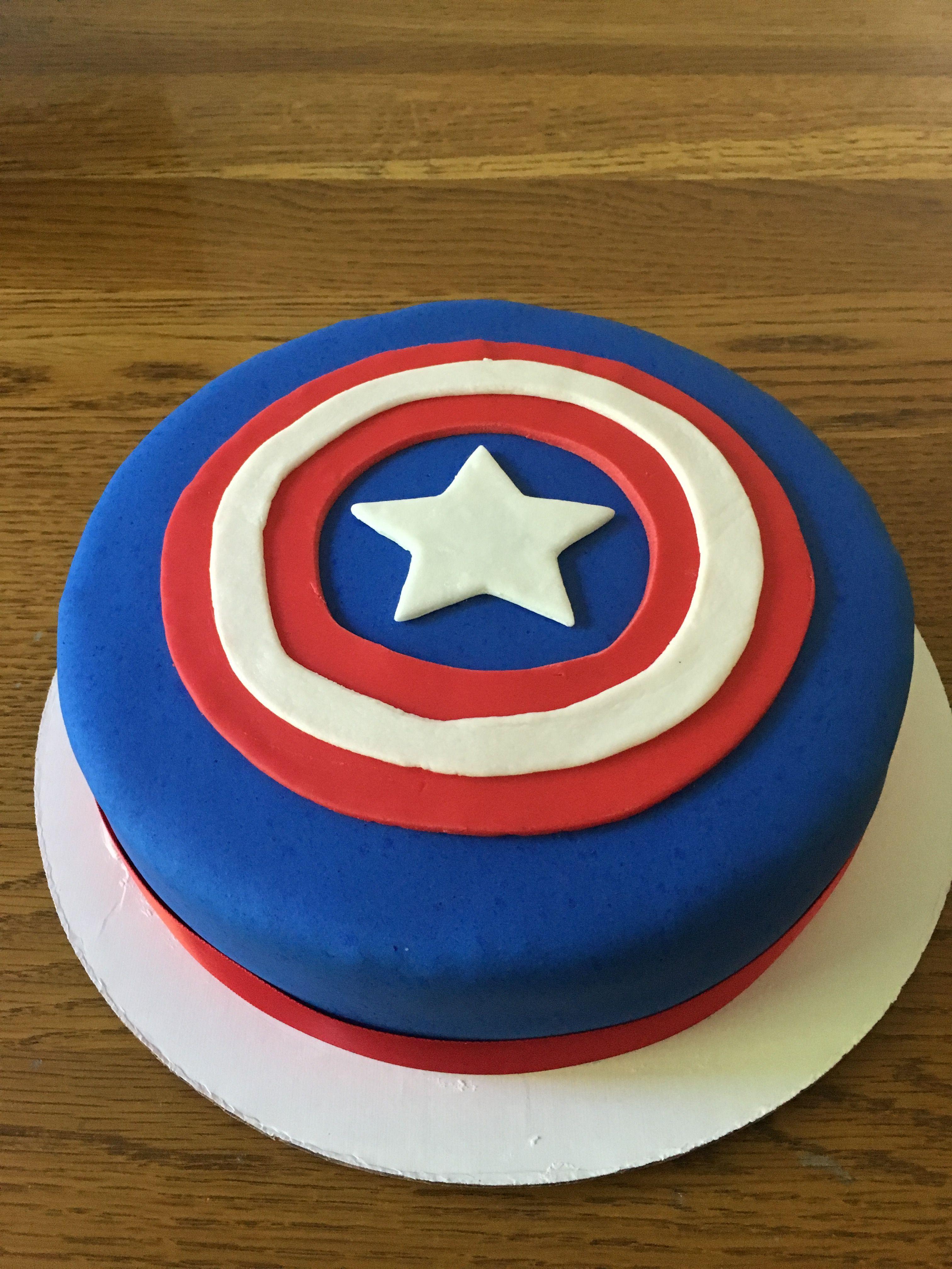 Captain America cake | Captain america cake, Cupcake cakes ...