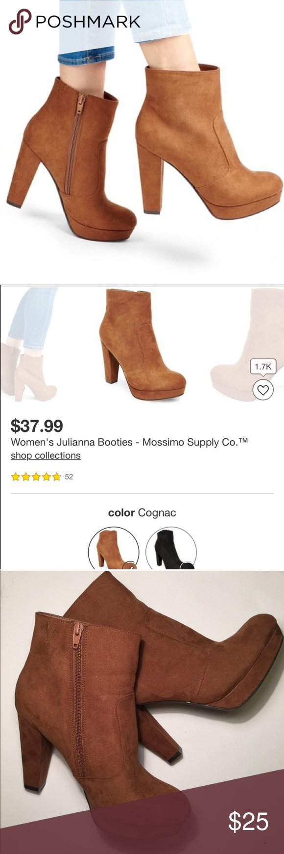 62c0896318f8 Like new Merona Julianna Ankle boots Cognac brown Worn once Size 8 From  Merona by Target Beautiful and comfy Merona Shoes Ankle Boots   Booties